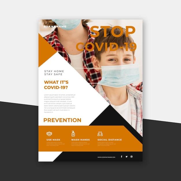 Dépliant Informatif Sur Les Coronavirus Vecteur Premium