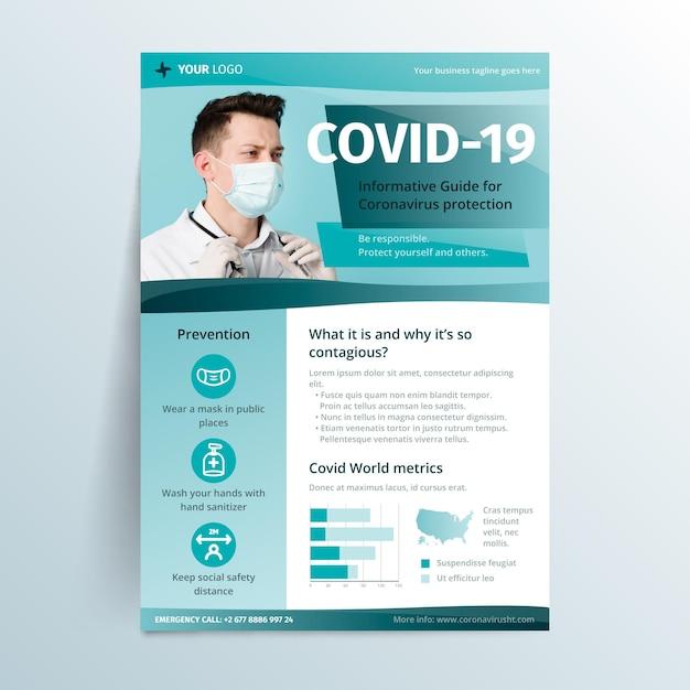 Dépliant Informatif Sur Les Coronavirus Vecteur gratuit