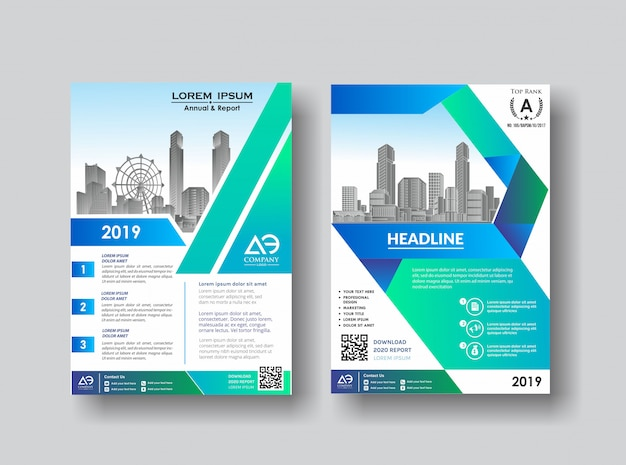 Dépliant de présentation de couverture créative pour événement Vecteur Premium