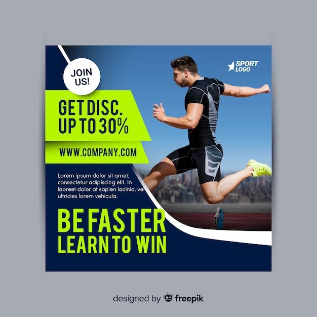 Dépliant Sportif Vecteur gratuit