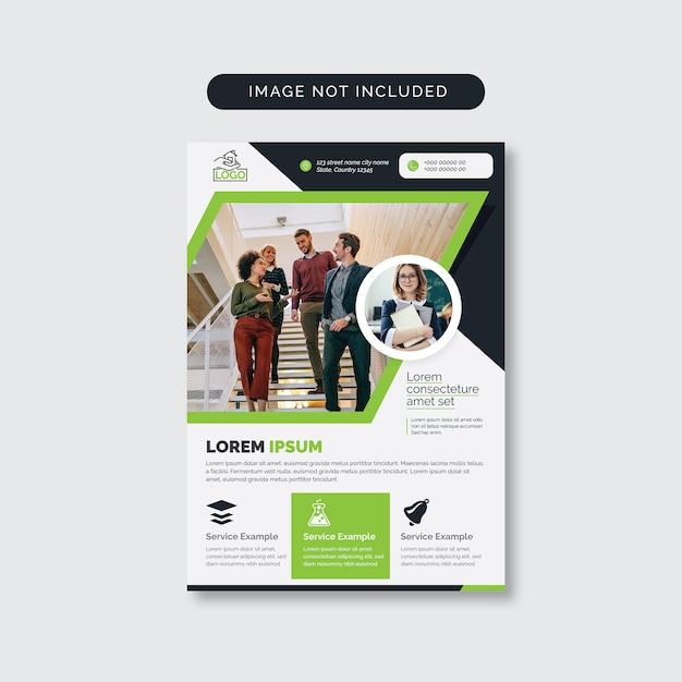 Dépliant vert Vecteur Premium