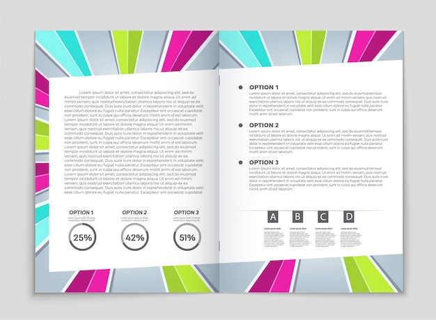 Dépliants d'entreprise, modèle de brochure. Vecteur Premium