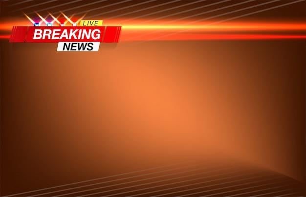 Dernières nouvelles, des nouvelles importantes, titre sous la forme de la police des lumières clignotantes. Vecteur Premium