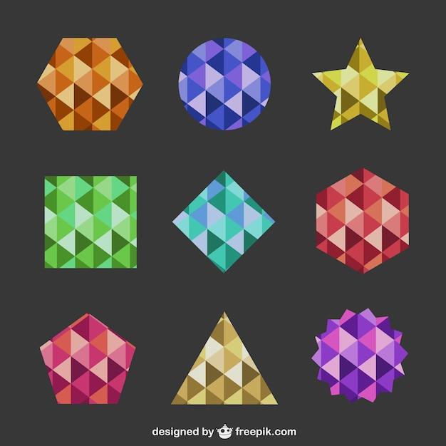 Souvent Des formes géométriques abstraites logos | Télécharger des  GM45