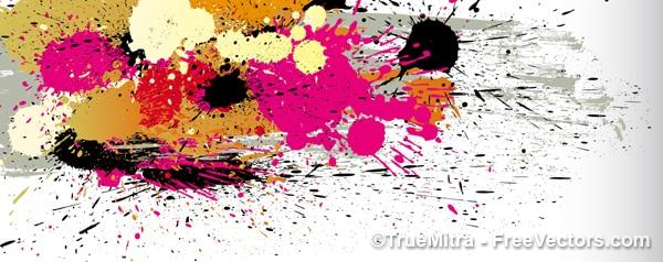 Des taches de peinture de couleur de texture Vecteur gratuit