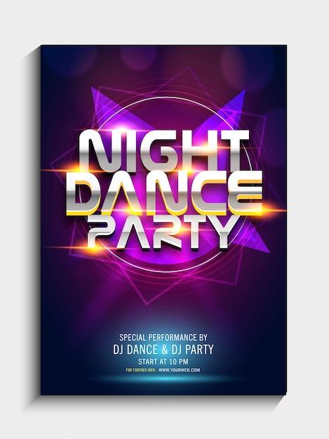 Coloré disco dj party invitations personnalisées