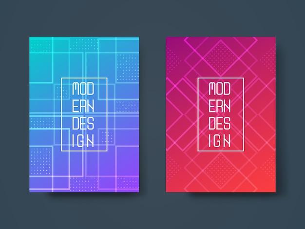 Design abstrait géométrique Vecteur Premium