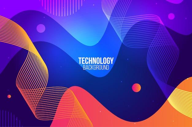 Design abstrait numérique Vecteur Premium