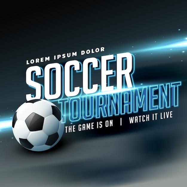 Design d'affiche de flyer sportif élégant pour un jeu de tournoi de football Vecteur gratuit