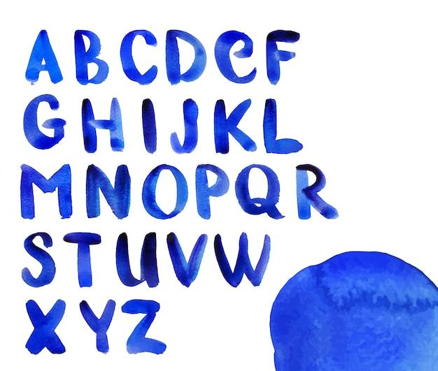 Design alphabet aquarelle Vecteur gratuit