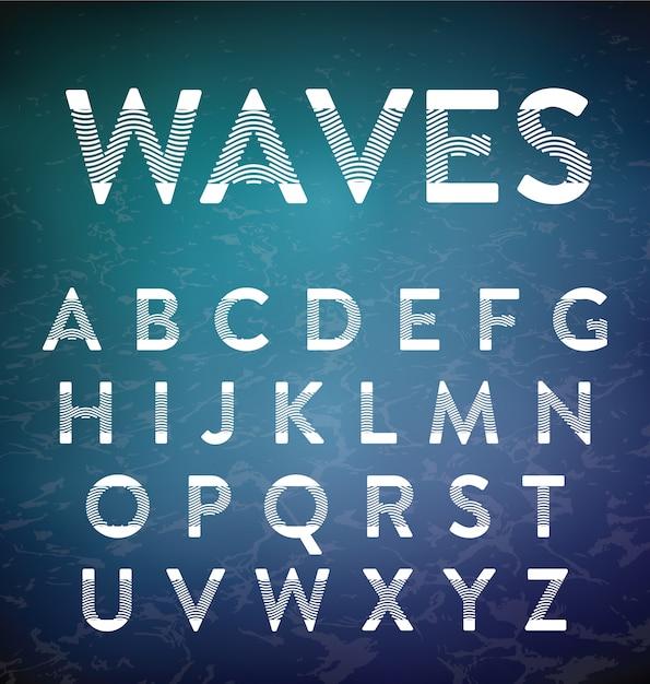 Design alphabétique abstrait Vecteur gratuit
