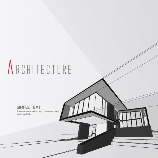 Design Architecture D'arrière-plan Vecteur gratuit