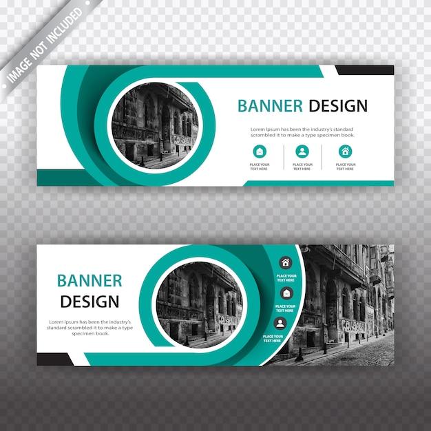 Design de bannière blanche et verte Vecteur gratuit