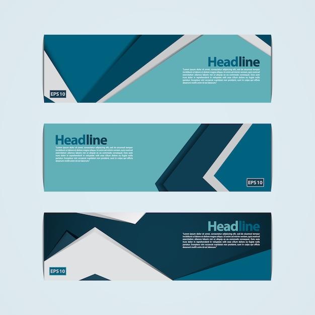 Design de bannière bleue et verte Vecteur gratuit