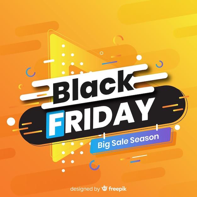 Design black friday et memphis Vecteur gratuit