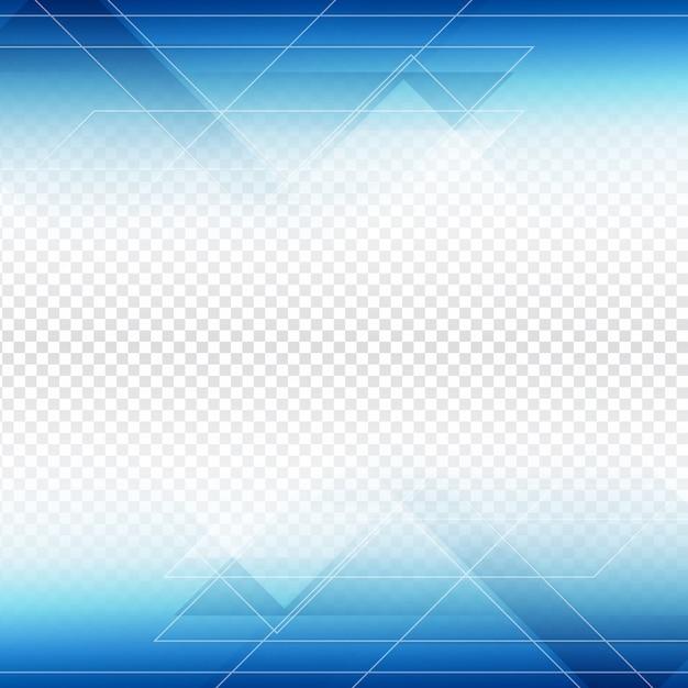 Design Blue Forme De Polygone Sur Fond Transparent Télécharger Des