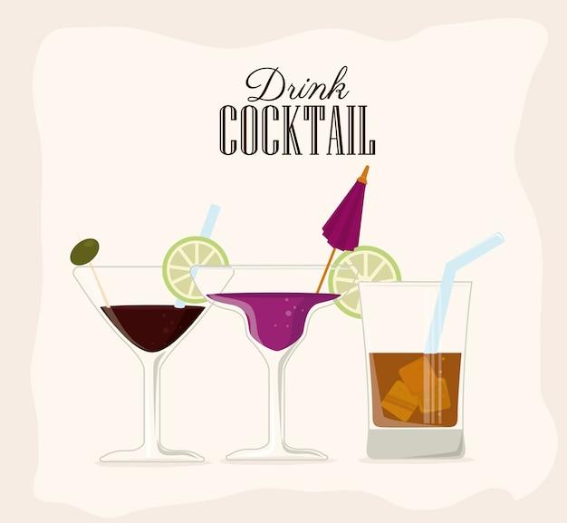 Design de boisson Vecteur Premium