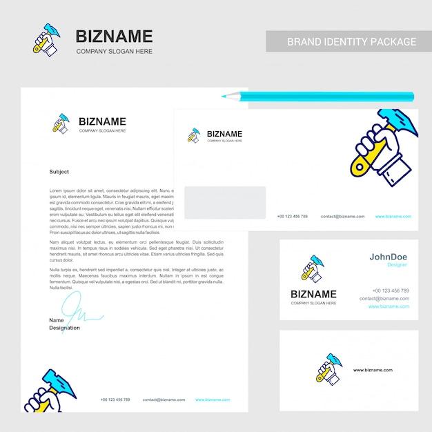Design de brochure d'entreprise Vecteur Premium