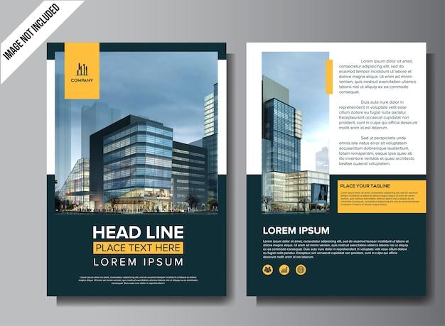 Design de brochure professionnelle flyer professionnel Vecteur Premium