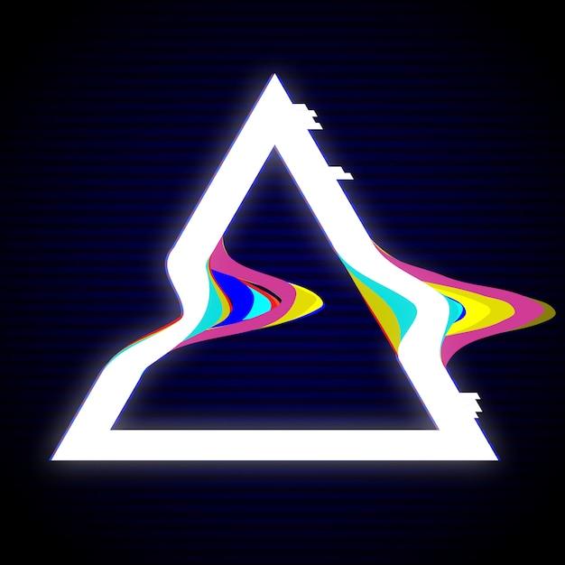 Design de cadre triangulaire enchevêtré Vecteur Premium