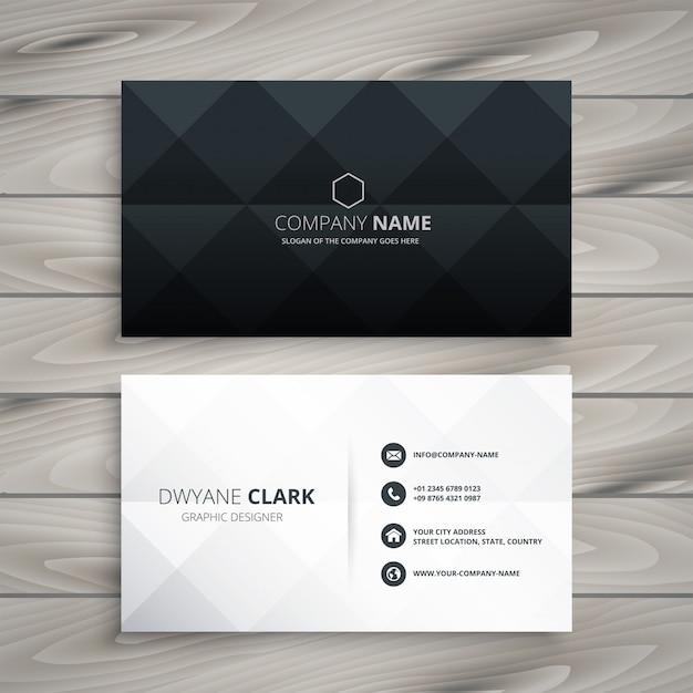 Design De Carte De Visite Noir Et Blanc Moderne Vecteur gratuit
