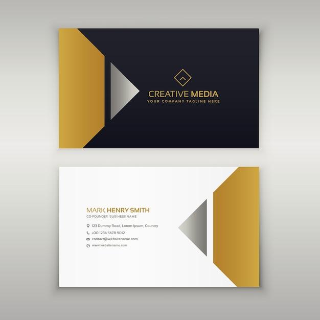 Design De Carte Visite Premium En Thme Dor