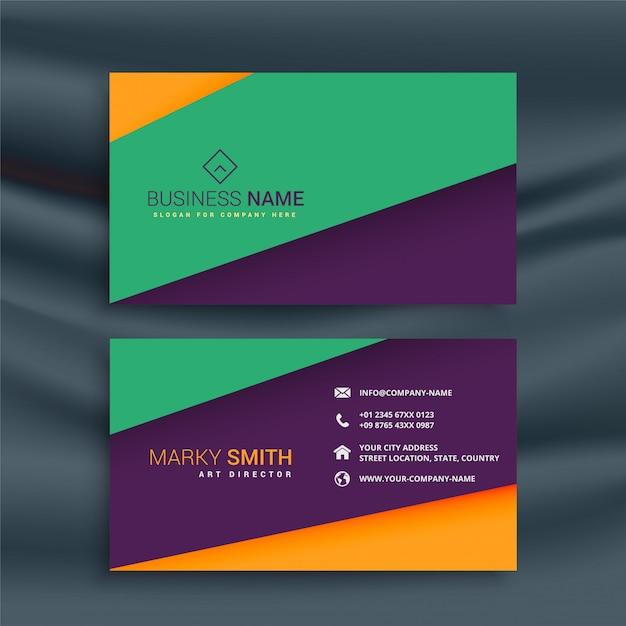 Design de carte de visite propre coloré Vecteur gratuit
