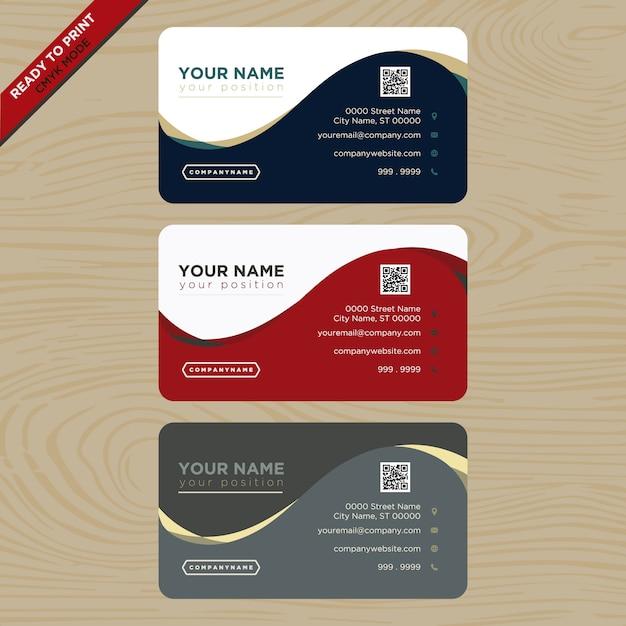 Design De Carte Visite Rouge Bleu Et Gris