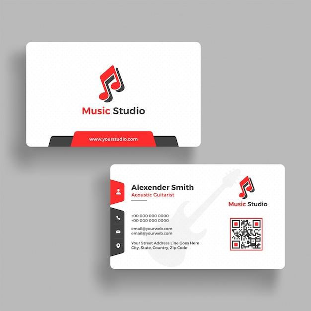 Design De Carte Visite Studio Musique Avec Prsentation Avant