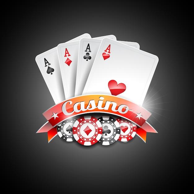 Design Casino de fond Vecteur gratuit