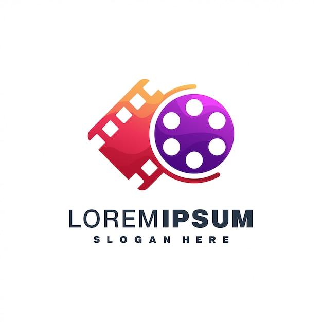 Design Coloré D'icône De Film Vecteur Premium