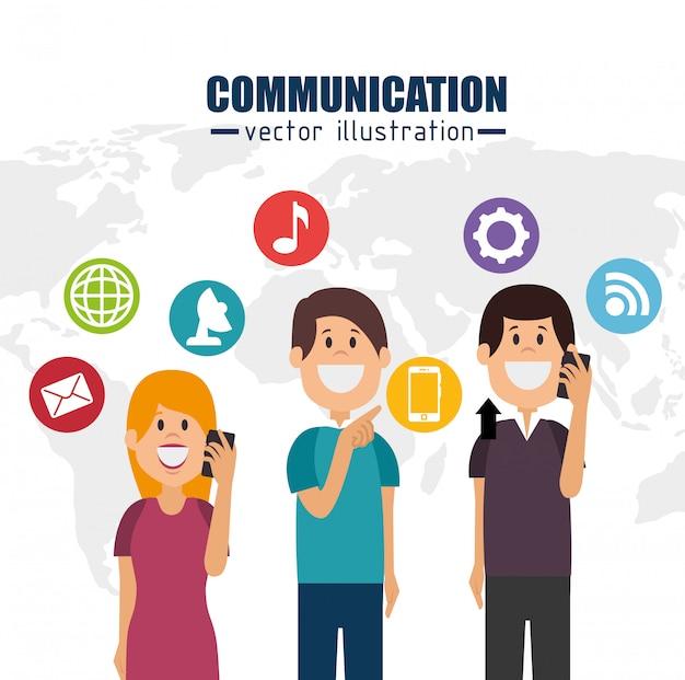Design de communication Vecteur Premium