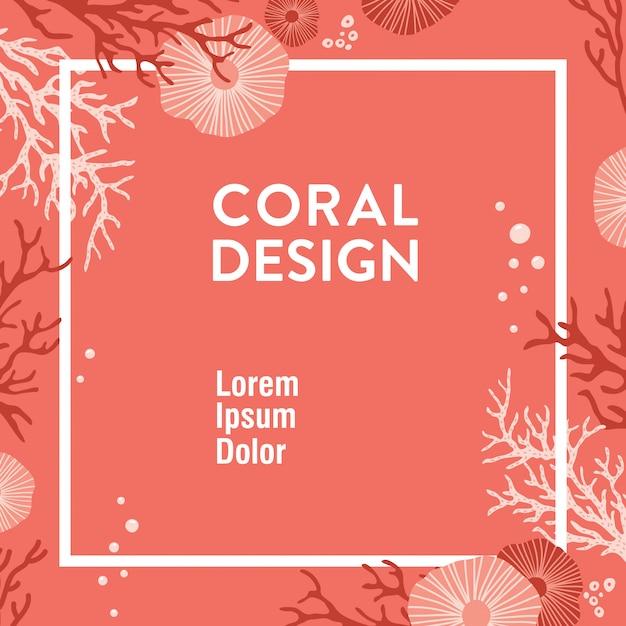Design corallien branché Vecteur Premium