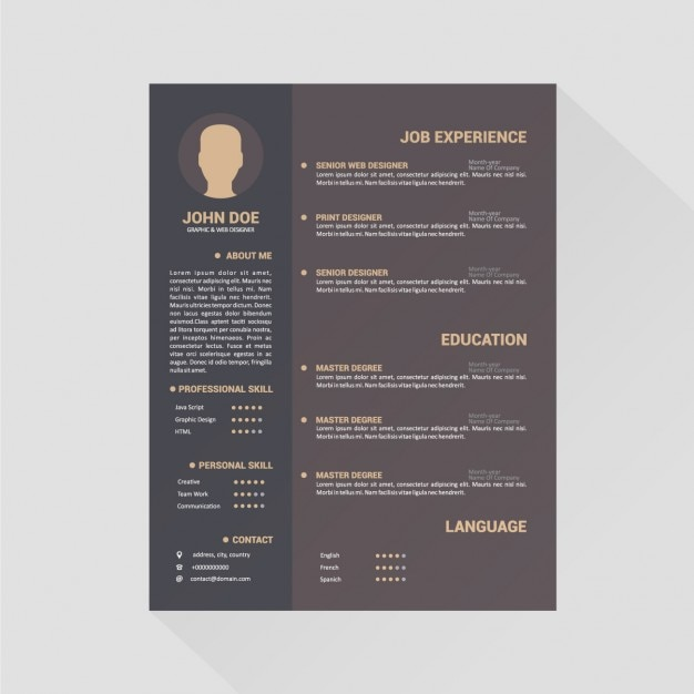 design curriculum vitae mod u00e8le