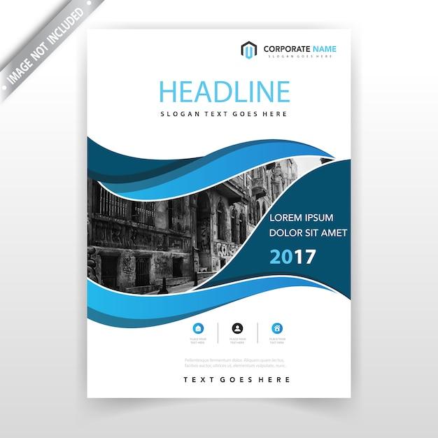 Design de couverture de prospectus bleus t l charger des for Design consultancy company profile