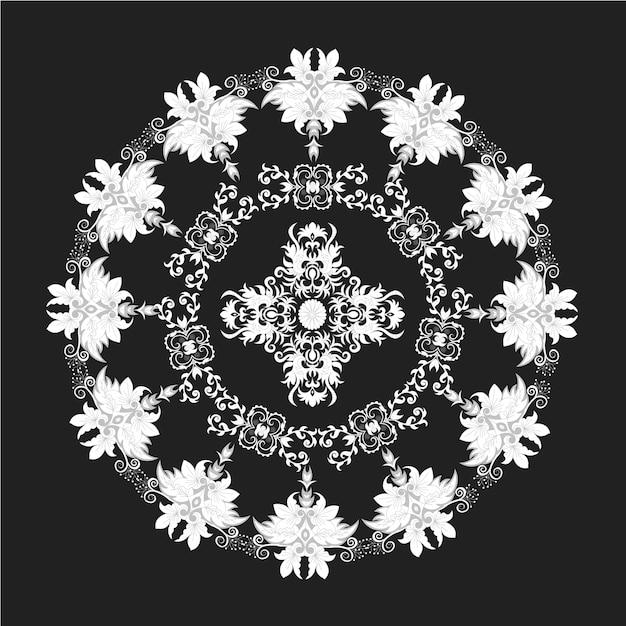 design de fond de mandala noir et blanc