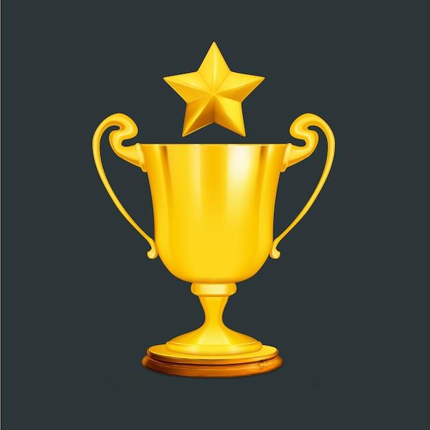 Design de trophée d'or Vecteur gratuit