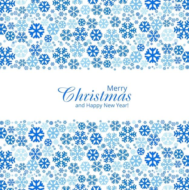 Design décoratif de flocons de neige de noël Vecteur Premium