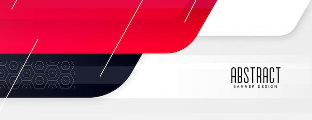 Design élégant De Bannière Large Moderne Rouge élégant Vecteur gratuit