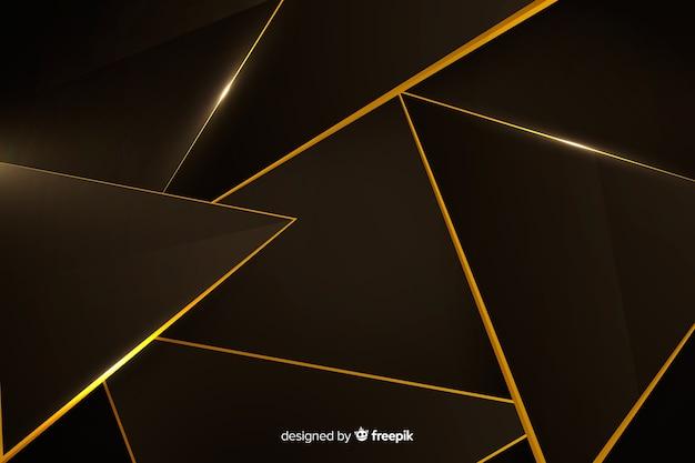 Design élégant fond polygonale sombre Vecteur gratuit
