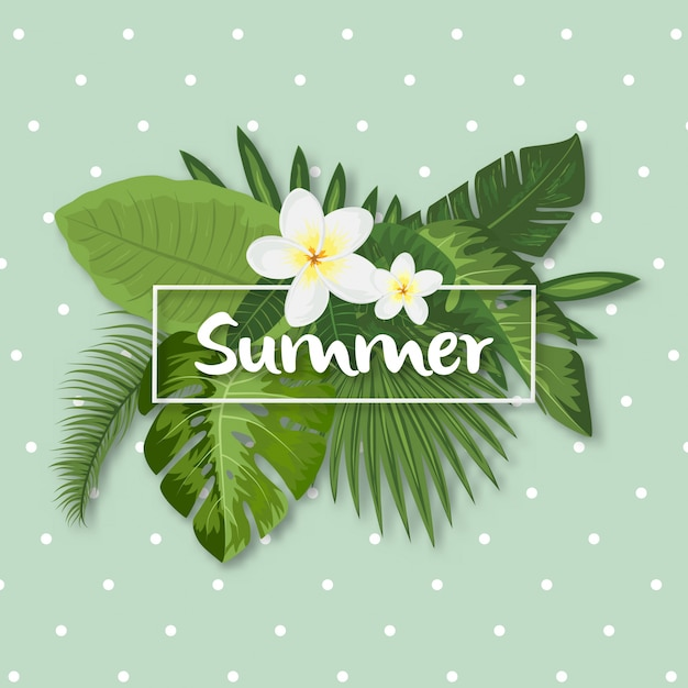 Design d'été tropical Vecteur gratuit