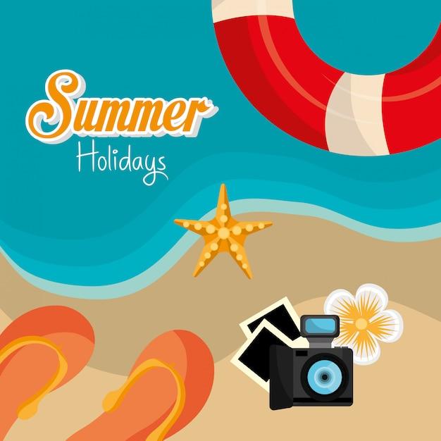 Design d'été. Vecteur gratuit
