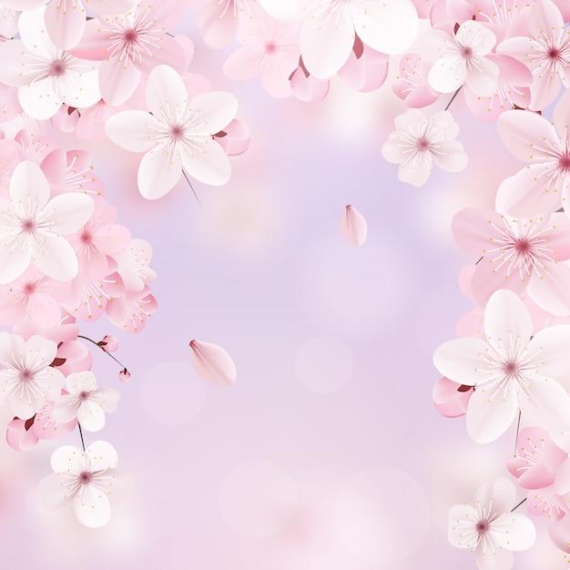 Design floral délicat. Vecteur Premium