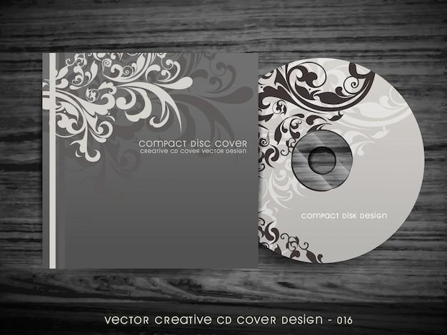 Design Floral élégant De Conception De Couverture De Cd Vecteur gratuit