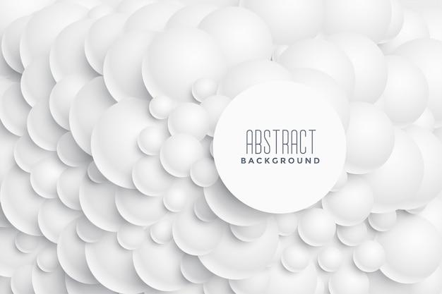 Design de fond 3d cercles abstraits Vecteur gratuit