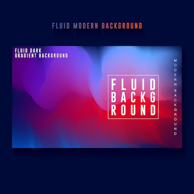 Design de fond abstrait bannière dégradé de couleur sombre Vecteur Premium