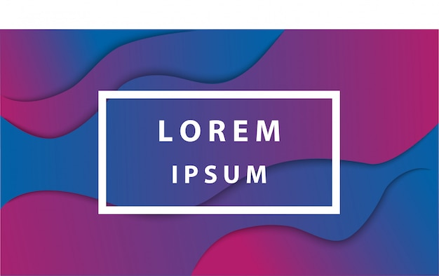 Design de fond abstrait couleur liquide Vecteur Premium