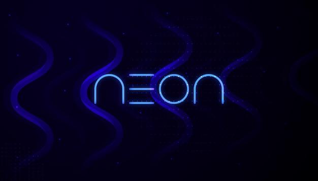 Design de fond abstrait néon Vecteur Premium