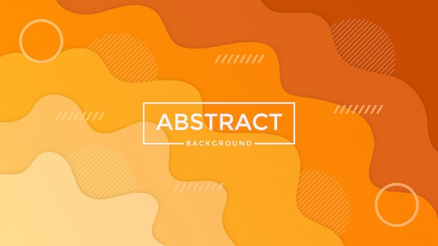 Design De Fond Abstrait Orange Papercut Vecteur Premium