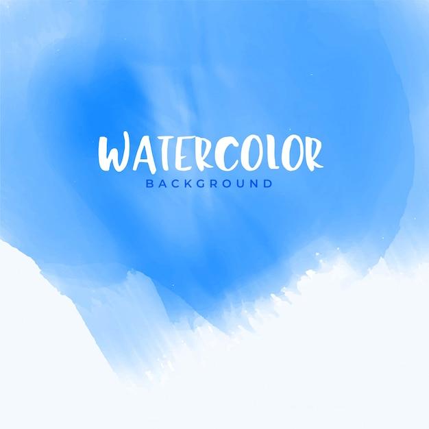 Design de fond aquarelle abstraite bleu Vecteur gratuit